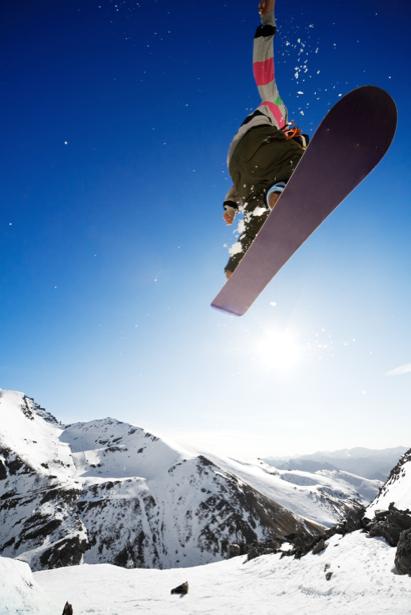 Фотообои сноубордист прыжок (sport-0000083)