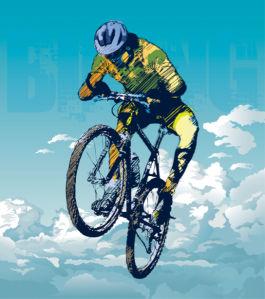 Фотообои велосипедист (sport-0000165)