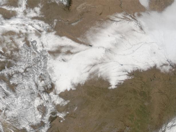 Фотообои 3д частично снег (terra-00034)