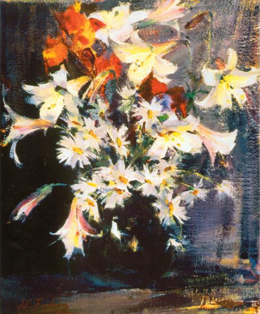 Цветочные обои Натюморт с цветами (art-0000316)