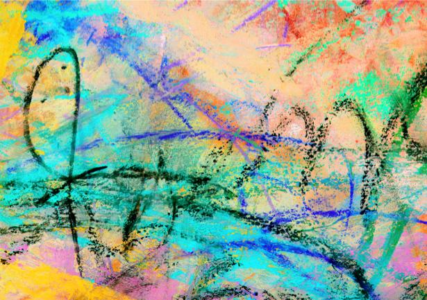 Фотообои мазки пастель (background-0000077)