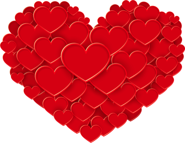 Фотообои Сердце любви (background-0000372)