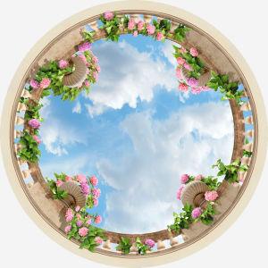 Круглые фотообои на потолок (ceiling-17)