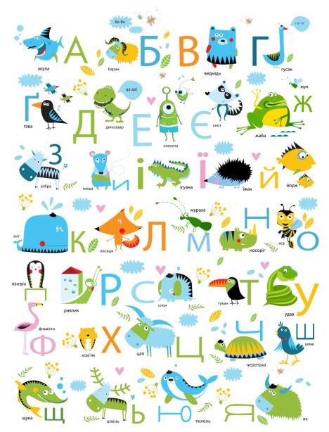 Фотообои Украинская азбука (child-426)