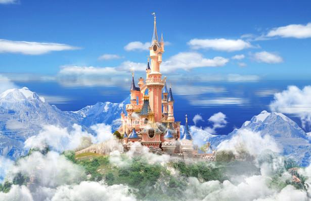 Фотообои замок в облаках (child-434)