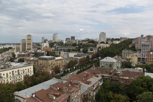 Фотообои вид с верху Днепропетровск (city-0000957)