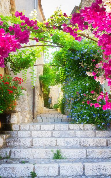 Фотообои улица с лестницей (city-1453)