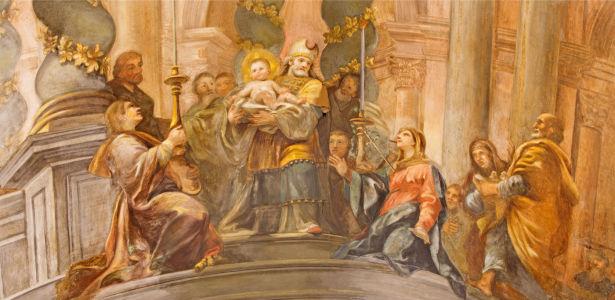 Фотообои Презентация Христа в храме (fresco-011)
