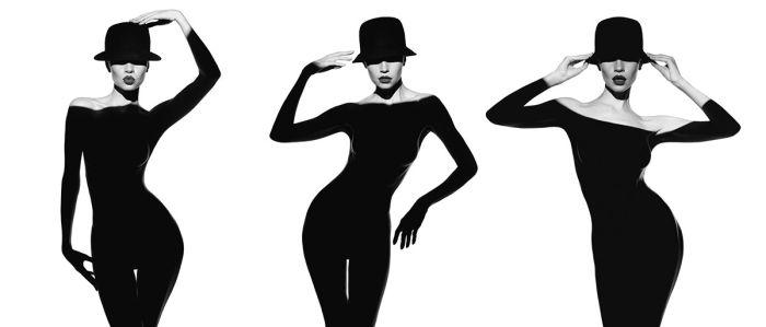 Фотообои Образ девушки в шляпе (glamour-316)