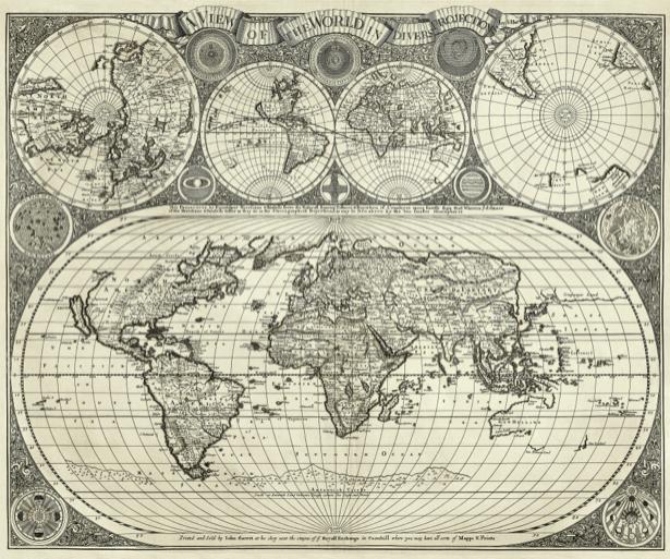 атлас, география, карты, старая карта (map-0000133)