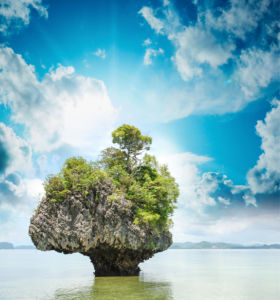 Фотообои скала в море (nature-0000837)