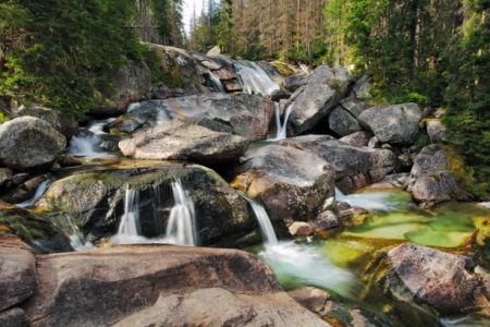 Фотообои водопад на камнях (nature-0000862)