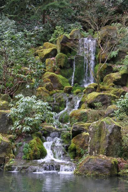 Фотообои вертикальные горный водопад (nature-00417)