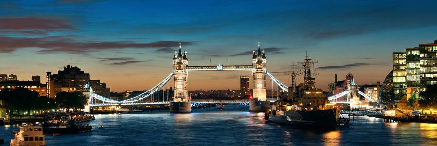 Фотообои Тауэрский мост на реке Темзе (panorama-63)
