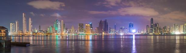 Фотообои панорама ночного города (panorama-66)