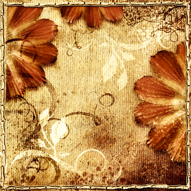 Фото обои винтажные цветы (retro-vintage-0000052)