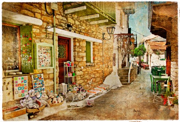 Фотообои улочка Италия город (retro-vintage-0000141)