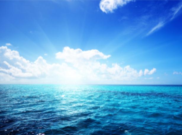 Фотообои морская синь и облака (sea-0000123)