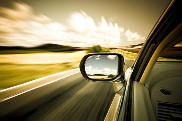 Фотообои фото из авто в дороге движении (transport-0000084)