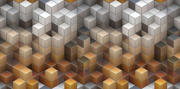 Фотообои Цветные кубы (3d22)