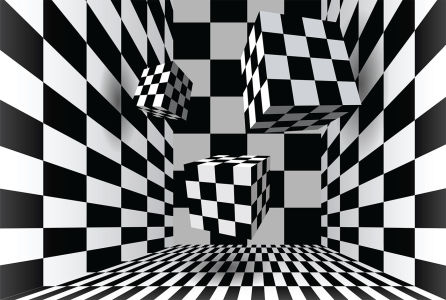 3D фотообои Клетчатые кубы (3d9)
