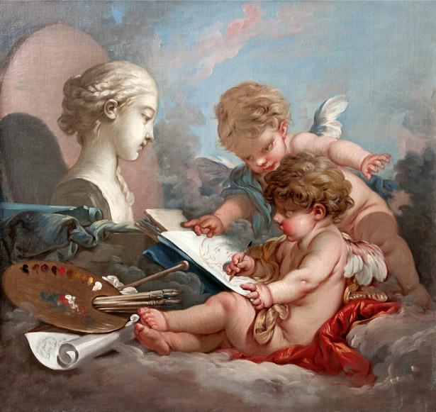 Картина амуры художники живопись обои (angel-00023)