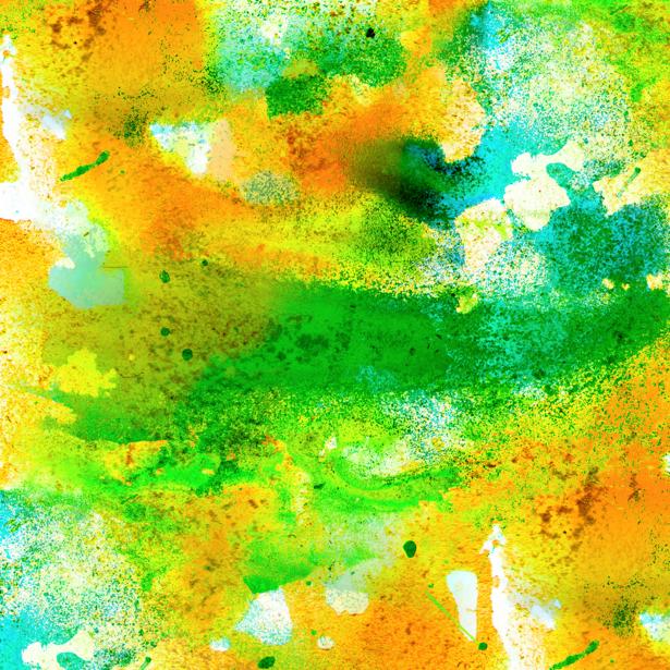 Фотообои зеленый и желтый мазки краски (background-0000091)
