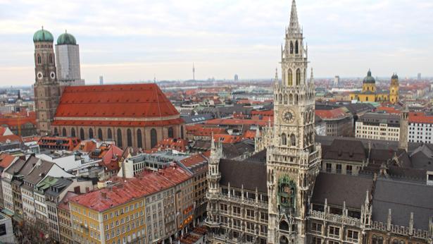 Фотообои здания мариенплац мюнхен (city-0001079)
