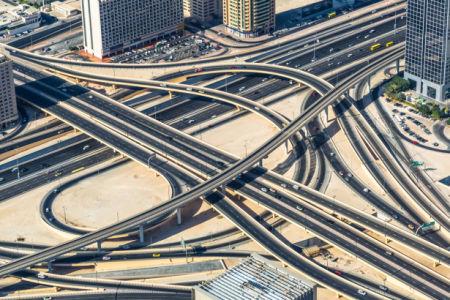 Фотообои Шоссе пересечения Дубай (city-0001391)