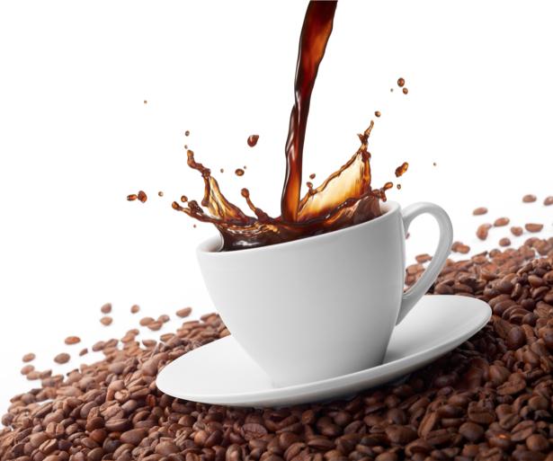 Фотообои на кухне кофе зерна чашка (food-0000117)