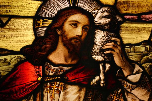 Икона Иисуса Христа с ягненком в руках (icon-00098)