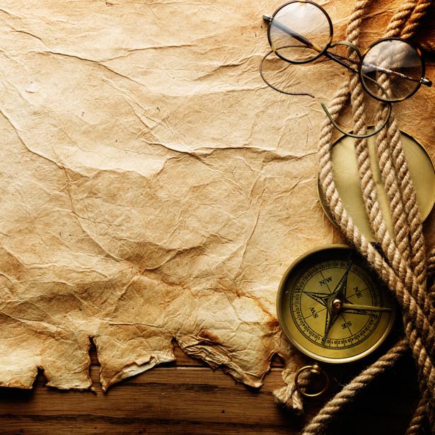 Фотообои с принтом компас и пергамент (map-0000211)