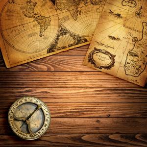 Фотообои старая карта компас (map-0000216)