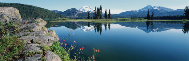 Фотообои панорама горного озера (nature-00388)