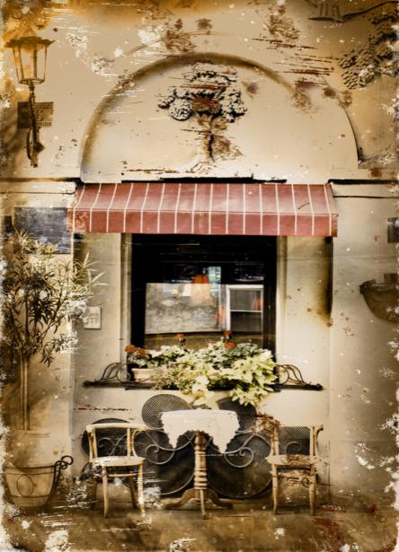 Фотообои Итальянская улочка (retro-vintage-0000380)