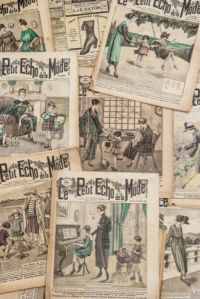 Фотообои коллаж из старых журналов (retro-vintage-0000392)