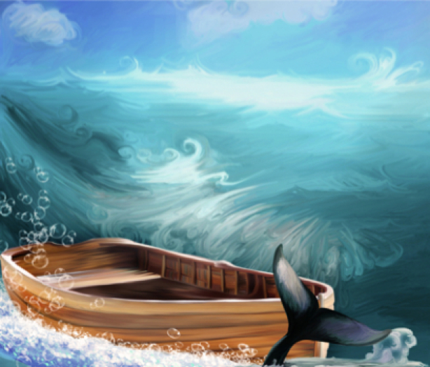 Фотообои лодка картина море (sea-0000119)