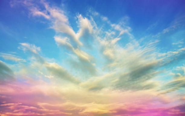 Фото обои розовое небо (sky-0000006)