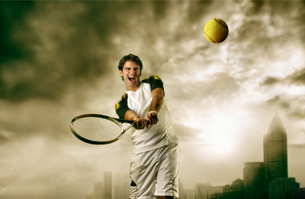 Фотообои теннисист (sport-0000063)