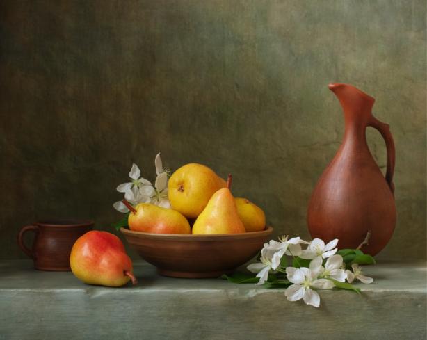Фотообои Натюрморт с грушами в чашке (still-life-0089)