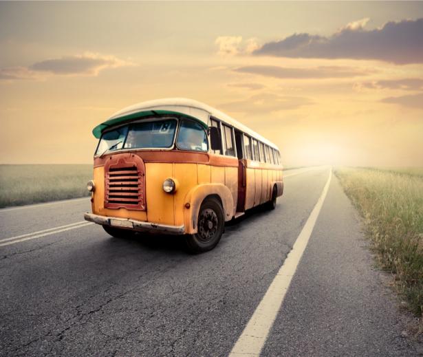 Фотообои жёлтый школьный автобус (transport-0000031)