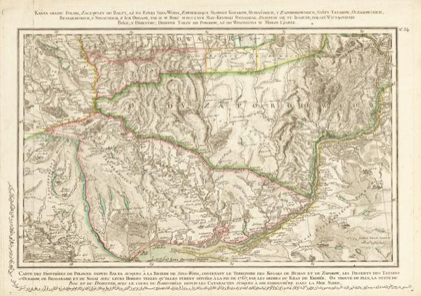 Карта Польши 1772 г. (ukraine-0044)
