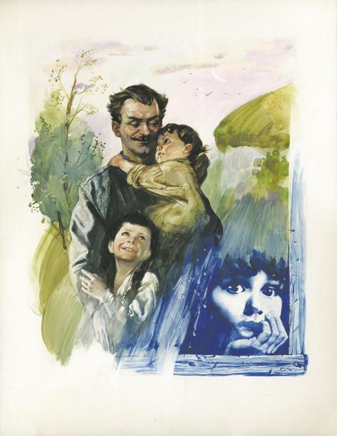 иллюстрации по книге В. Сосюры - Вот отец идет ... (ukraine-0144)