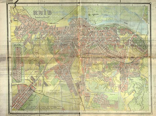 Историческая карта Киева 1947 г. (ukraine-0239)