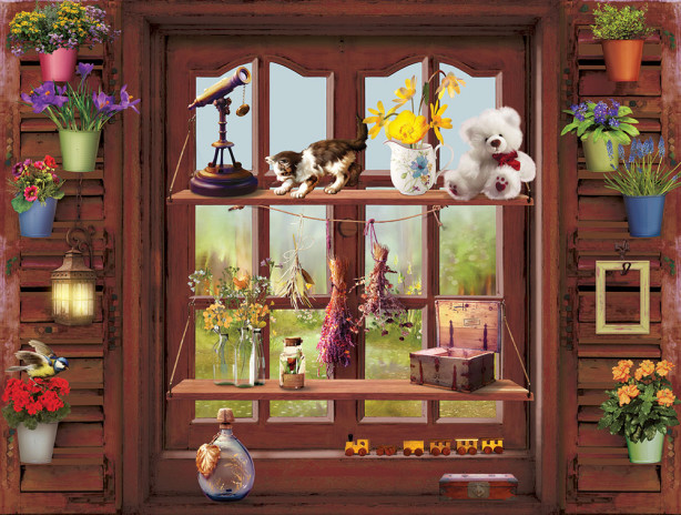 Фотообои Деревянное окно (win-32)