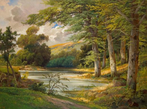 Арнеггер Романтический пейзаж леса (art-0000045)