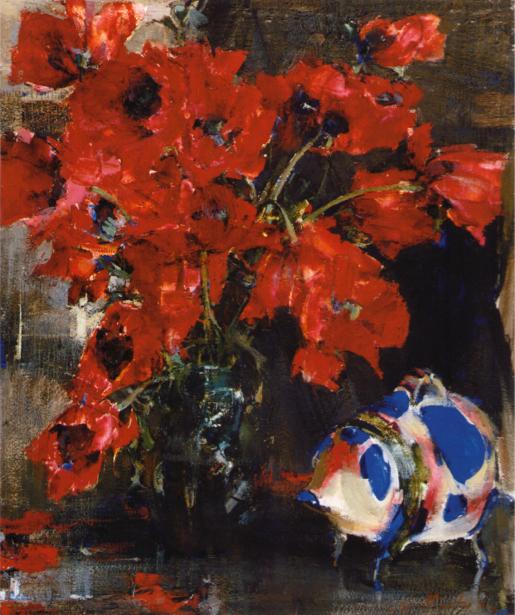 Обои для стен фото Натюморт с цветами (art-0000319)