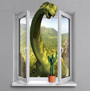 Фотообои Динозаврик в окне (child-472)