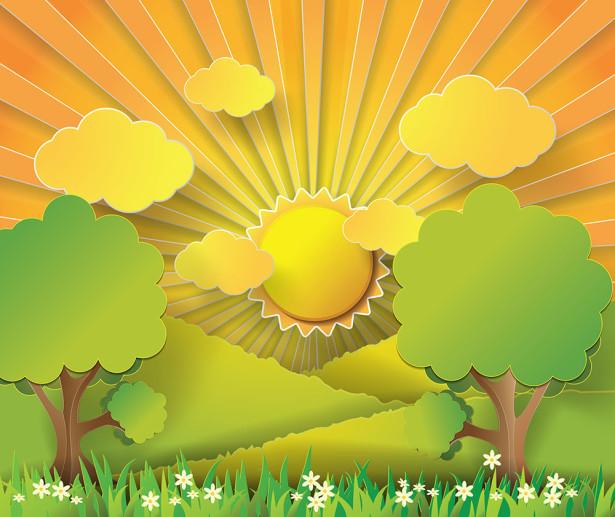 Фотообои Солнечная поляна (child-500)