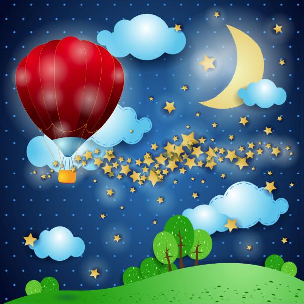 Детские фотообои воздушный шар (children-0000216)